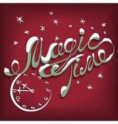 Card magic time vector