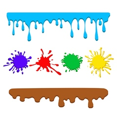 Colorful drips vector
