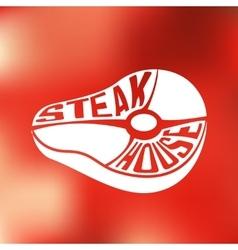 Creative design of power inside steak house vector