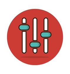 Equalizer icon music sound wave symbol vector