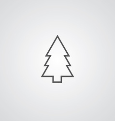 fir-tree outline symbol dark on white background vector image vector image
