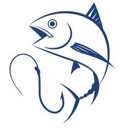 fishing tuna vector image vector image