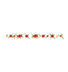 floral blossom ornament vector image