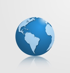Globe with south america vector