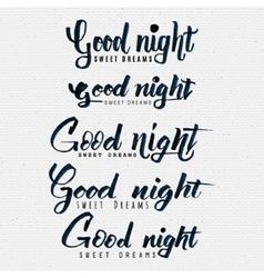 Good night sweet dreams hand lettering vector