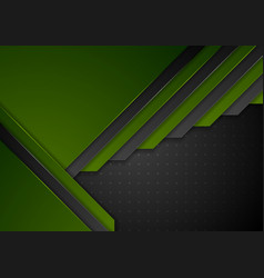 green and black abstract material corporate vector image