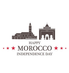Independence Day Morocco vector image vector image