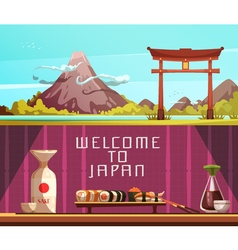 Japan travel 2 horizontal retro banners vector