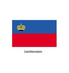 liechtenstein flag vector image vector image