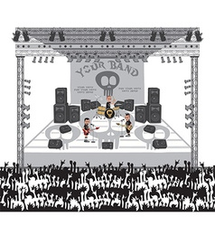 Music stage vector