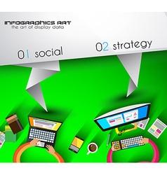 Origami teamwork vector image vector image