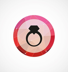 Ring circle pink triangle background icon vector