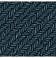 Seamless dark hand drawn distorted lines vector