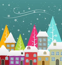 Seasonal snowfall vector