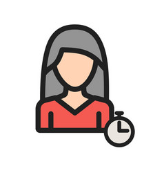 Woman time management vector