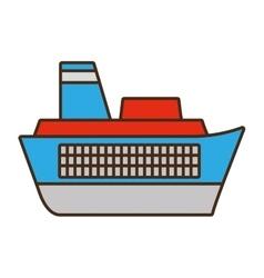 cartoon ship travel maritime vector image