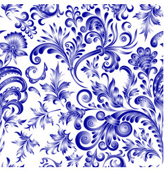 doodle paisley seamless pattern gradient floral vector image