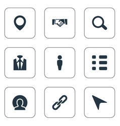 set of simple conference icons vector image