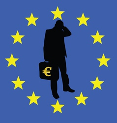 Concern for the survival of the euro vector