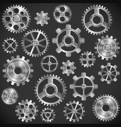 Metal gears vector image