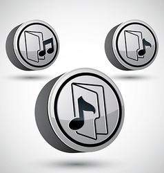 Microphone icon isolated 3d music theme design vector