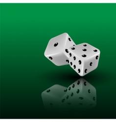 3d dice vector image