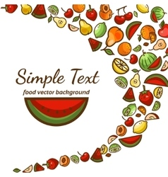 Fruit pattern background vector