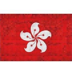 Flag of hong kong vector