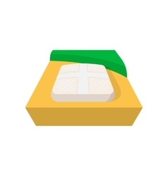 Part of baseball field icon vector image