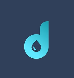 Letter d water drop logo icon design template vector