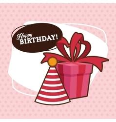 Happy birthday design party hat icon colorfull vector