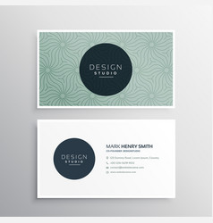 Abstract company business card template vector