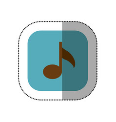blue symbol music icon vector image