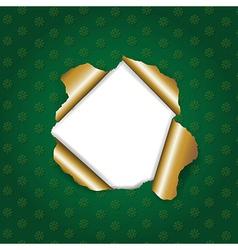 Christmas green torn vector