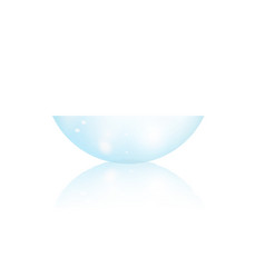 Contact lens side view realistic vector
