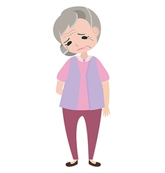 Depressed old woman vector