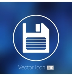 disk old icon floppy save record media sign vector image vector image