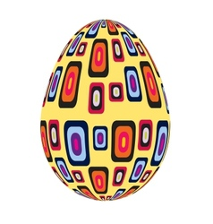 fine painted egg designed for Easter vector image