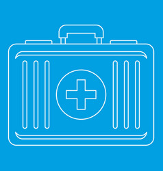 First aid icon outline style vector