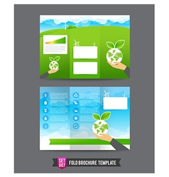 Fold brochure background template 0007 eco concept vector