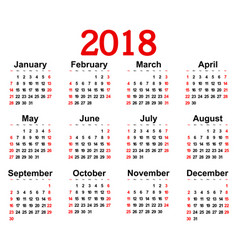 Great new wall calendar 2018 vector