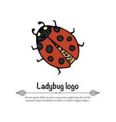 handdrawn doodle logo vector image vector image