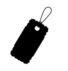 Isolated black label design vector