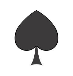 Isolated spade of card game design vector image vector image