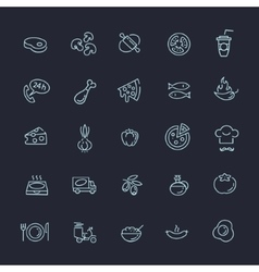Italian traditional pizza - web icons set vector image vector image