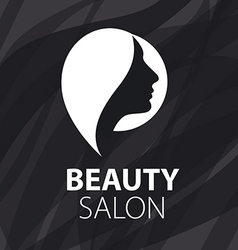 logo for female hair salon vector image