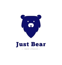 minimalistic bear head logo vector image vector image