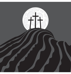 Mount Calvary vector image vector image