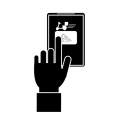Order food online website delivery pictogram vector