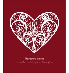 Ornamental Heart postcard vector image